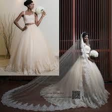 aliexpress com buy 2 piece wedding dresses beaded ball gown