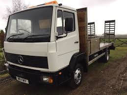 mercedes 814 flatbed beavertail recovery plant 4x4 tractor export