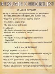 Resume Checklist How To Write A Good Resume Clarks Resume Writing Format And