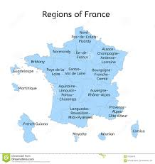 Alsace Lorraine Map France Administrative Map With New Regions Stock Illustration