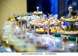 Restaurant Buffet Table by Buffet Table Canape Sandwiches Snacks Holiday Stock Photo