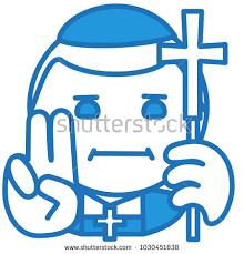 emoji robe emoji catholic christian cardinal high rank stock vector 1030451638