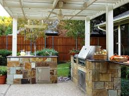Bull Outdoor Grill Outdoor Kitchen White Pergola Plus Simple Fan Above Nice Floor