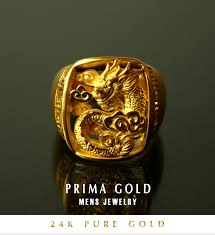 gold mens rings images Prima gold japan rakuten global market pure gold men dragon jpg