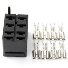 8pcs female spade wiring connector socket plug terminals u0026 rocker