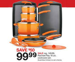black friday target deal rachael ray 16 pc cookware set deal at target black friday sale