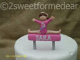 gymnastics cake toppers large girl gymnast cake topper free silver by 2sweetformedear