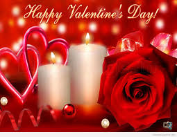 happy valentine u0027s day candles and rose flower wallpaper