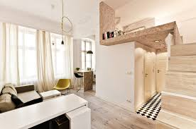 osb was used to build a mezzanine in this tiny 29m apartment