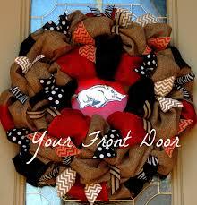 razorback burlap wreath arkansas razorbacks wreath