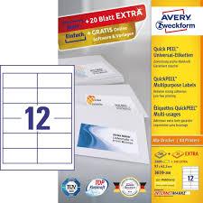 zweckform design pro universal etiketten 3659 200 avery zweckform