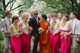 an orange wedding dress kirsty matt green wedding shoes