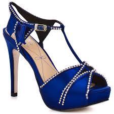 Cobalt Blue High Heels Blissa Royal Blue Satin Royal Blue Heels Blue Heels And Royal