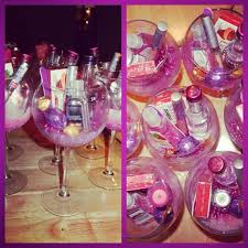wine glass party favor bachelorette favors glitter wine glasses filled with things