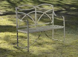 Wrought Iron Benches For Sale On The Block Into The Garden As Only The British Can Do It