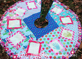 handprint christmas tree skirt u2013 patty murphy handmade