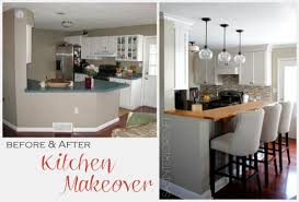 kitchen makeovers before and after photos before and after two before