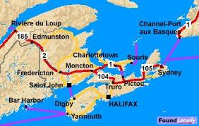 road map canada new brunswick maps on transcanadahighway