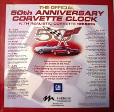 amazon com official 50th anniversary corvette clock automotive