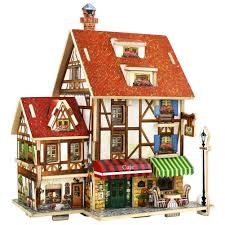 online buy wholesale wooden house models 3d from china wooden