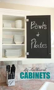 ideas for painting kitchen cabinets photos livelovediy the chalkboard paint kitchen cabinet makeover