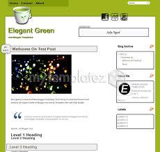 free templates blogger templates personal u0026 blog elegant green