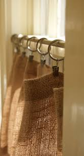 Smocked Burlap Curtains Great Burlap Drapes And Curtains Decor With Burlap Curtain How To