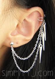 earrings with chain ear cartilage 20 best earrings images on ear cuffs ears and