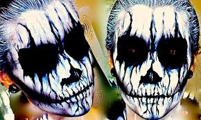 Skeleton Face Painting For Halloween by Demon Corpse Paint Halloween Makeup Tutorial Youtube