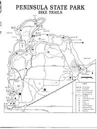 Map Of Door County Wi Peninsula State Park Bike Trail