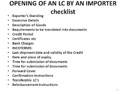 Letter Of Credit Validity advance payments the seller does not want to take any risk on the