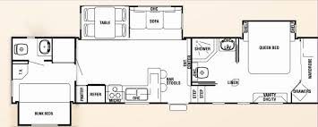 triple bunk travel trailer floor plans travel trailers with bunk beds floor plans awesome winsome design