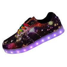 galaxy shoes light up amazon com dayout unique galaxy print led light up sneakers for