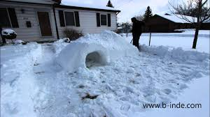 how to build an awesome igloo snow fort timelapse youtube