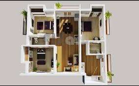 3d floor plan of a 3 bedroom apartment in kuwait kw u2013 outsource