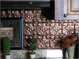 Metal Kitchen Backsplash Tiles Interior Kitchen Cabinet And Copper Backsplash With Kitchen