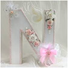 Letter Decorations For Nursery by Large Letter For Nursery Or Girls Room This Pretty Shabby Chic