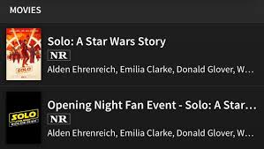 opening night fan event star wars the last jedi disney has begun uploading showtimes for solo if all follows rogue