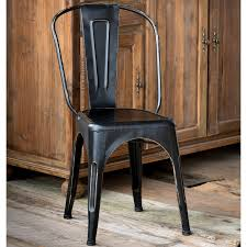 Tolix Bistro Chair Beautiful Black Metal Bistro Chairs Industrial Metal Dining Chairs