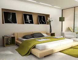 Modern Japanese Bedroom Decorating Design Ideas With Abstract - Japanese modern interior design