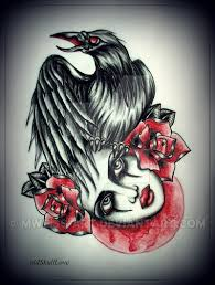 crow tattoo design by mweiss art on deviantart