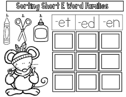 cvc cut and paste worksheets vowel sorting activities