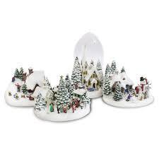 kinkade lighted musical collectible figurine set