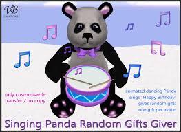 singing birthday second marketplace singing panda random gift giver