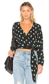 dvf blouse diane furstenberg wrap dot blouse in casimir dot black revolve
