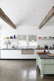 kitchen floor modern farmhouse kitchens concrete farmhouse sinks