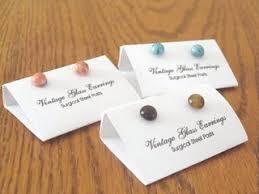 make stud earrings post or stud earring packaging jewelry journal