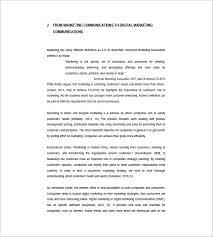 marketing communication plan template 11 free sample example