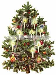 old fashion christmas tree digital download printable image