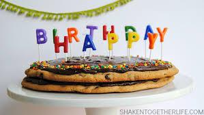 birthday cookie cake decker chocolate chip cookie cake